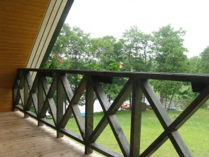 Vaizdas is balkono, sodyba